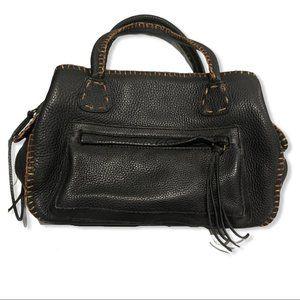 Carlos Falchi Vintage Pebbled Leather hobo satchel